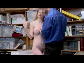 Tommy Gunn & Nadya Nabakova [ In the office &  With talk / A uniform, Sex in clothes, Robber, Cumshot on chest, Curly, With