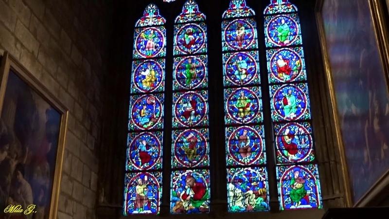 Собора Парижской Богоматери Нотр Дам де Пари фр Notre Dame de Paris Витражи