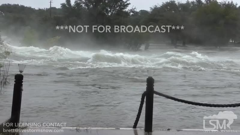 10-17-18 Kingsland, TX - Raging Floods From Maxed Buchanan Dam