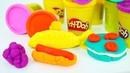 Video für Kinder mit PlayDoh. Wir machen aus Knete Essen.