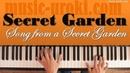 Song from a Secret Garden / Песня таинственного сада piano cover ноты