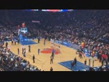 Random guy hits half-court shot at Knicks game!
