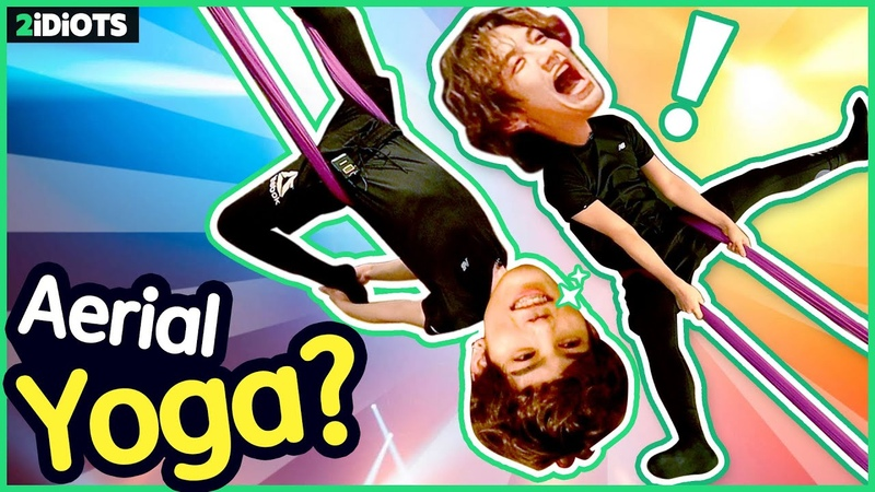 2 IDIOTS | Ep.33 - Trying Aerial Yoga Challenge for the first time! 😂🔥