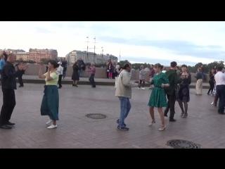 Ковбойский танец. Бальные танцы на Стрелке В.О. (09.09.2018 г.) вид.1078