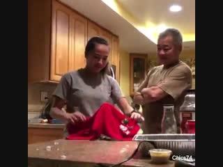 Папа был удивлён...