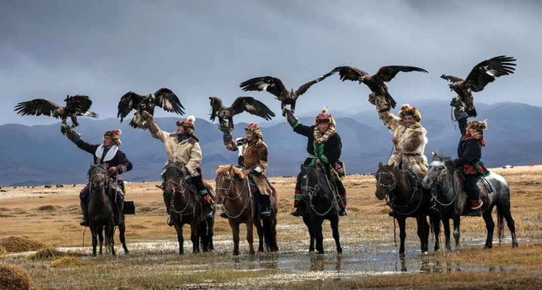 Монголы на охоте