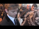 Thomas Brodie-Sangster - Signing Autographs at NYC hotel