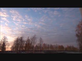 Очень красивые облака! От рассвета до Заката! Красивое видео!