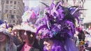 Stylish Celebration At Easter Bonnet Parade In Midtown