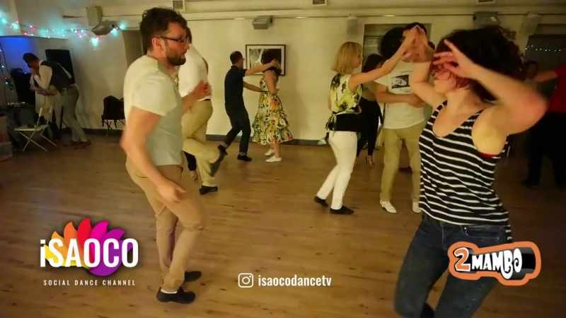 Rafail Galiev and Anna Melkova Salsa Dancing in 100th 2mambo social, Sunday 13.0(4)