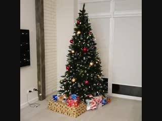 Подглядела☃️☃️☃️ а подарки уже лежат❄❄❄ Меня распирает от любопытства🐖🐖🐖 Как вы думаете, что муж подарит мне на Новый Год ? 🍾🍾🍾