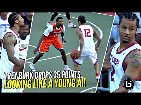 Trey Burke Gets Heckled Responds w 35 POINTS Looking Like a Young Allen Iverson at Dyckman!