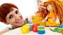 Кексы для кукол - Маша Капуки и кинетический песок для детей.