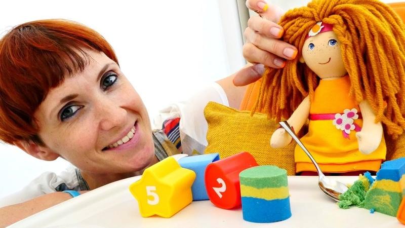 Кексы для кукол Маша Капуки и кинетический песок для детей