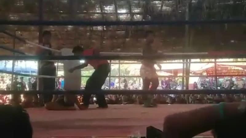 Бирманский бокс летхвей нокаутирующий удар