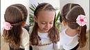Penteado Infantil com tranças raiz e diversas opções de uso