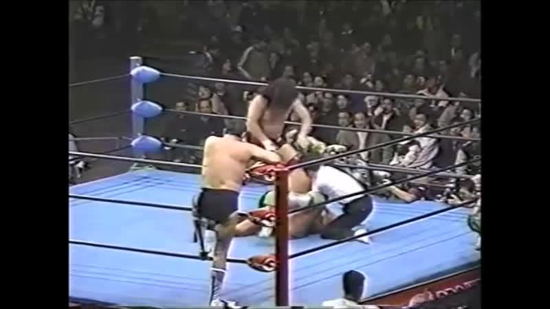1996.11.29 - Satoru Asako/Tamon Honda vs. Yoshiaki Fujiwara/Masanobu Fuchi [JIP]