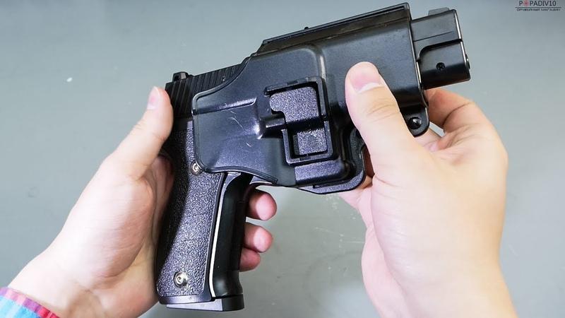 Страйкбольный пистолет Galaxy G 26 Sig Sauer P226 с кобурой видео обзор
