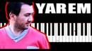 Aqşin Fateh Nəfəs - Yarem - Piano Tutorial