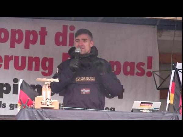 PEGIDA Dresden 5. Weihnachtssingen 16.12.2018 Sehr gute Rede von Martin Sellner (IB Österreich)