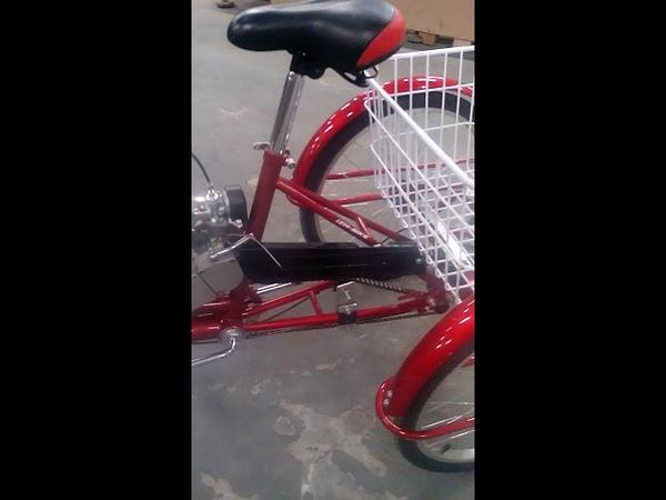 3-х колёсный велосипед с мотором F-80.