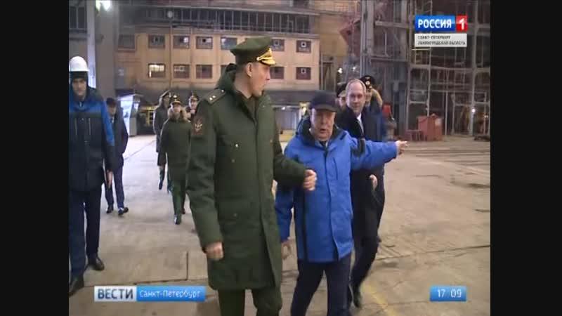 Заместитель министра обороны Алексей Криворучко осмотрел Северную верфь