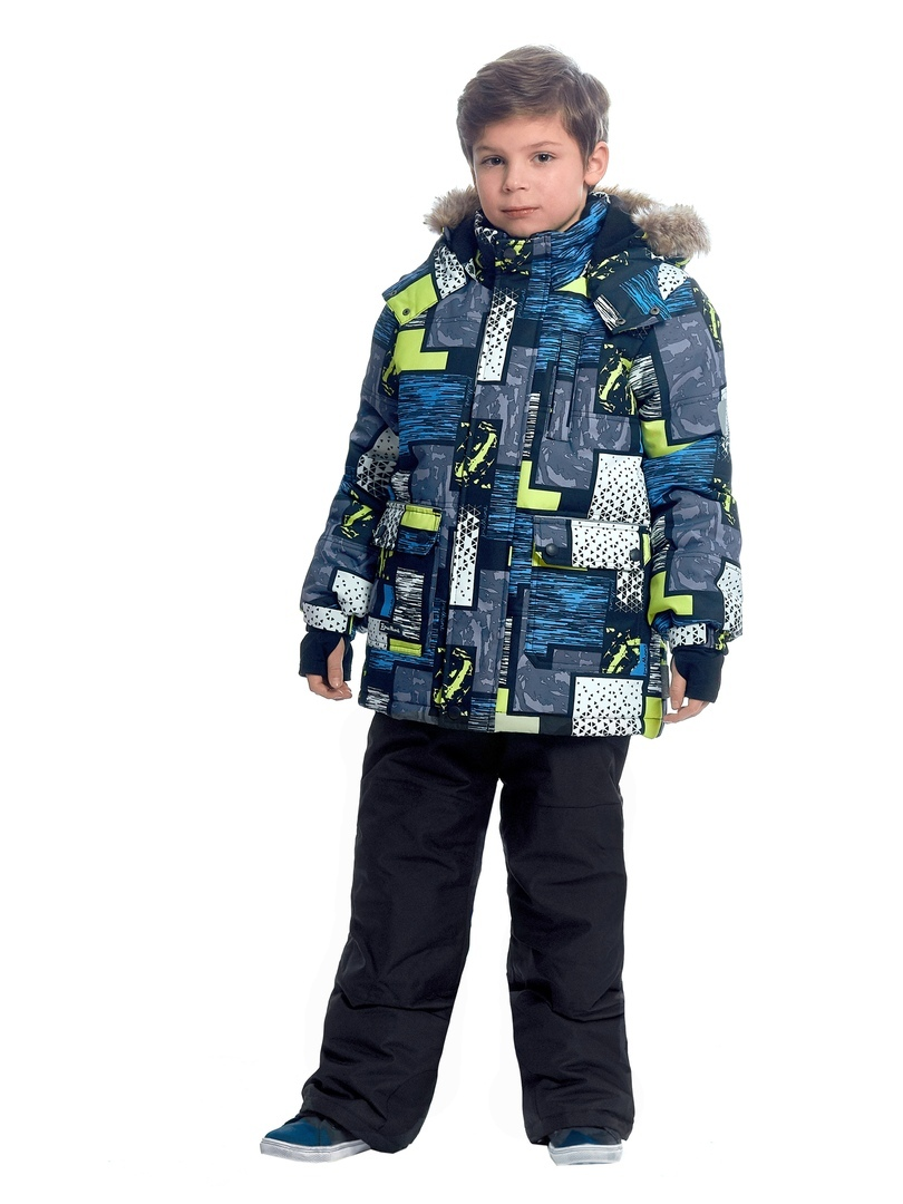 WP92264 BLACK Комплект зимний: куртка и брюки