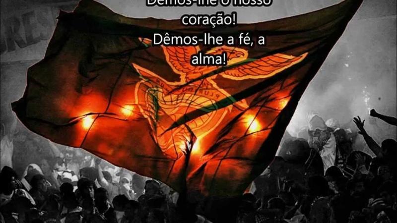 Hino SL Benfica Proibido pela Ditadura Legendado AVANTE AVANTE BENFICA