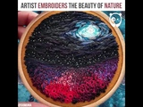 Artist embroiders the beauty of nature Art by Shimunia