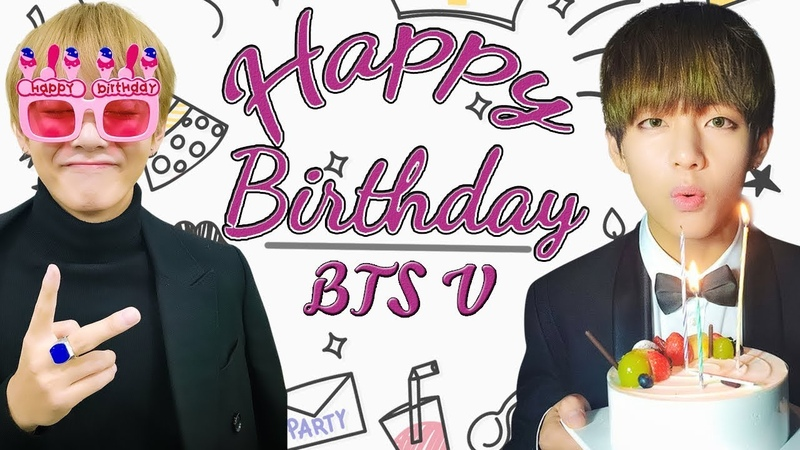 (방탄소년단防弾少年団) Happy Birthday BTS V 20181230 HappyVDay Kpop [VGK]