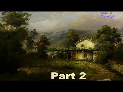 Oil Painting Farm House Landscape By Yasser Fayad part 2