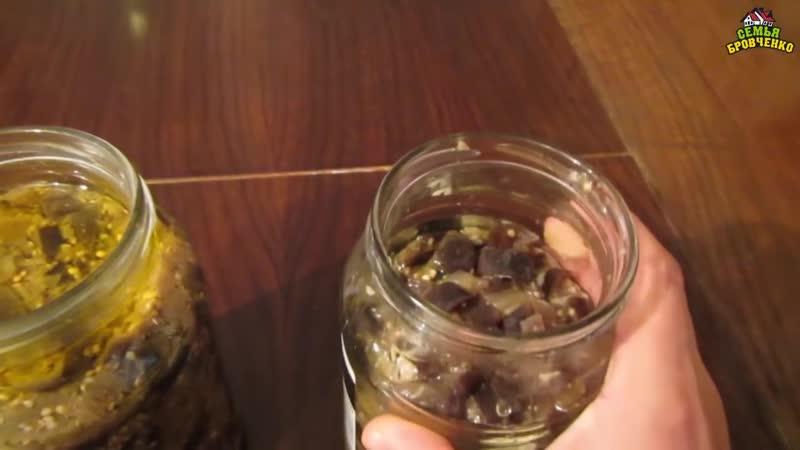 Баклажаны на вкус, как грибы, за 1 сутки. Маринуем. Рецепт. (07.18г.) Семья Бровченко.