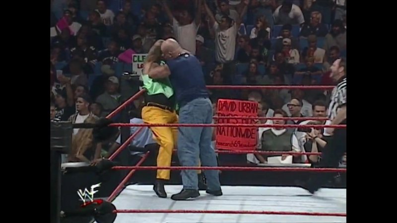 Godfather Val Venis Vs Droz Prince Albert - Tag Team Street Fight - RAW 26.07.1999