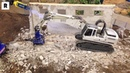 INCREDIBLE HYDRAULIC RC DEMOLITION GRAB WITH RC EXCAVATOR - RC TRUCK ACTION