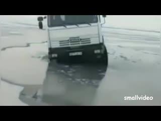 Утопил Ниву, Кран и КАМАЗ
