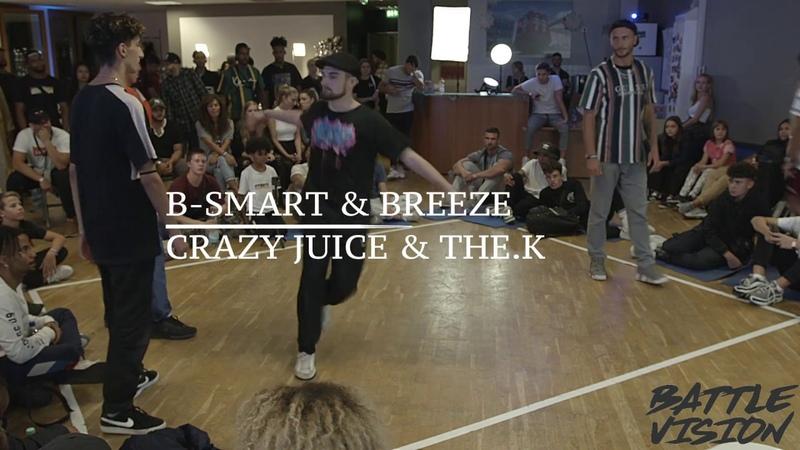 B-SMART BREEZE VS CRAZY JUICE THE.K - BATTLEVISION 2018 - HIP HOP 1/4 FINAL | Danceproject.info