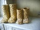 начало плетения колодка из линолеума