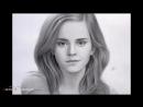 Фотореалистичный портрет Эммы Уотсон простым карандашом