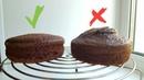 Секрет ровного бисквита 🌻 шоколадный бисквит на кипятке🌻 Flat cake secret
