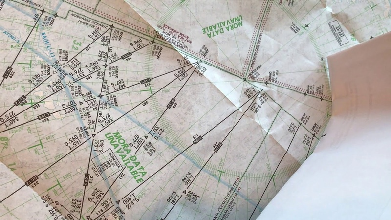 Flat Earther's $100,000 challenge completed on a paper flight chart.