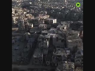 Drohnen-Aufnahmen zeigen das Ausmaß der Zerstörungen von Syriens drittgrößter Stadt #Homs