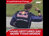 #JustF1DriverThings Hand Gestures