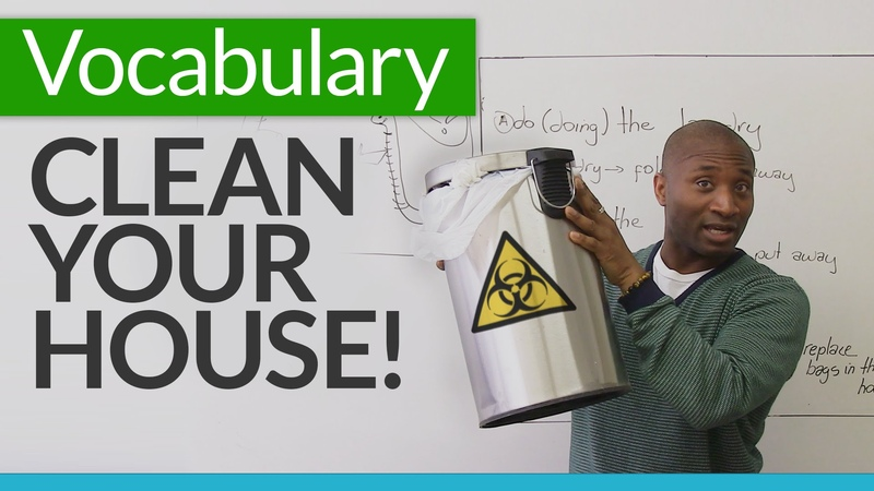 Learn basic English vocabulary for cleaning your house