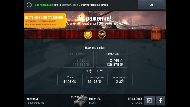 Indien-Panzer. Кастилья. 02.08.18