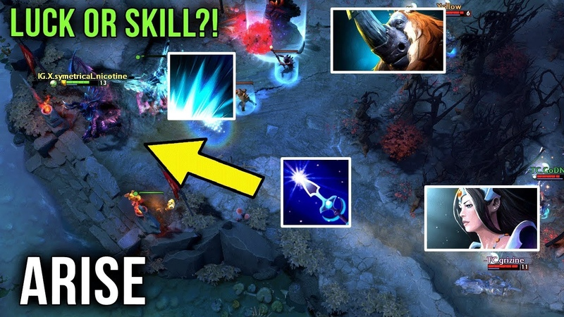 Ar1Se- Magnus 200 IQ Shockwave into Arrow Prediction Play - Luck or Skill? EPIC Gameplay Dota 2