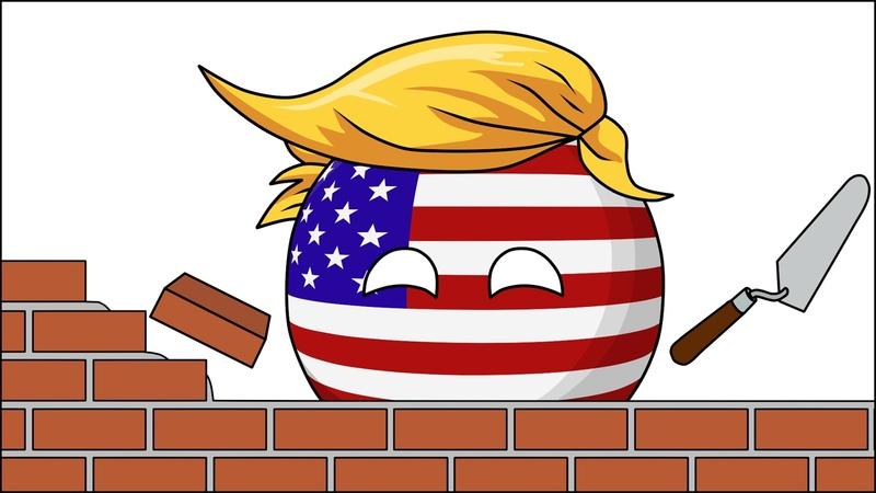 Великая Американская стена ( Countryballs )