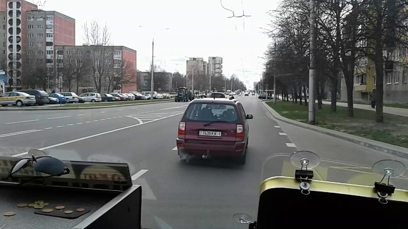 Перевозка пассажиров г Брест (маршрутка №35) Видео-обзор (26.03.20181231)