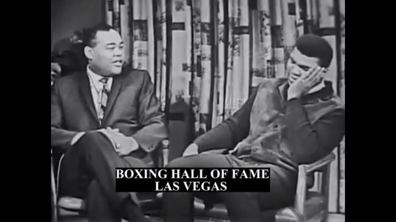 """Muhammad Ali and Joe Louis 1966 – Funny """"Bum of the Month"""""""