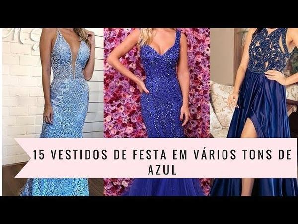 15 vestidos de festa na cor azul (do azul serenity ao marinho)