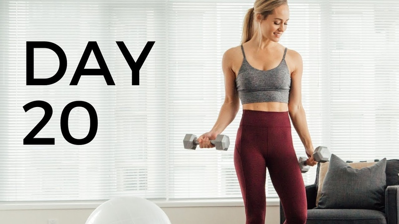 28 Day At Home Workout Challenge DAY 20 (ABS BOOTY)